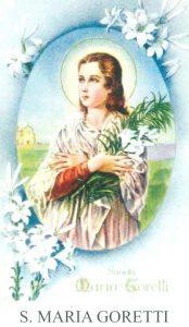 maria goretti in un antico santino