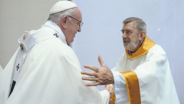 padre Jesùs Maria Aristin Seco con papa Francesco